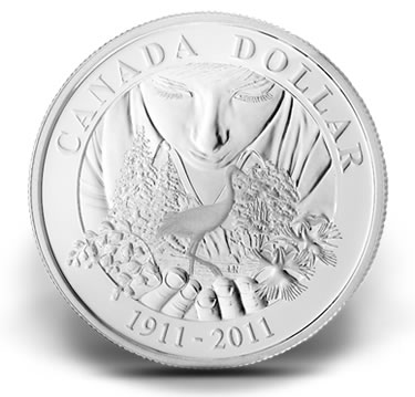 Anniversary of Parks Canada 2011 Proof Silver Dollar