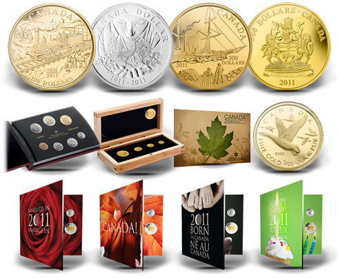 First Royal Canadian Mint 2011 Collector Coins