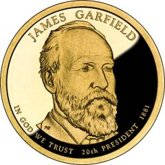 James Garfield Presidential $1 Coin Proof