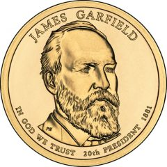 James Garfield Presidential $1 Coin Uncirculated