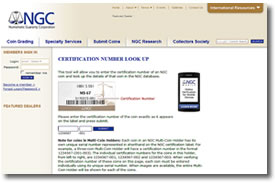 NCG Certification Number Online Look Up Page