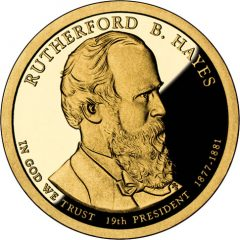 Rutherford B. Hayes Presidential $1 Coin Proof
