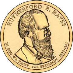 Rutherford B. Hayes Presidential $1 Coin Uncirculated