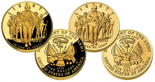 U.S. Army Commemorative $5 Gold Coin - Proof and Uncirculated
