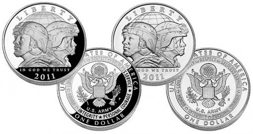 U.S. Army Commemorative Silver Dollar - Proof and Uncirculated