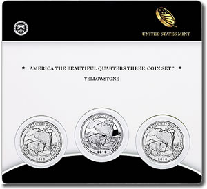 Yellowstone Quarter Three-Coin Set