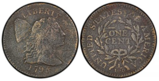 1795 Reeded Edge Flowing Hair large cent
