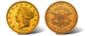 1849 Double Eagle Coin