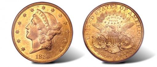 1885 Liberty Head $20