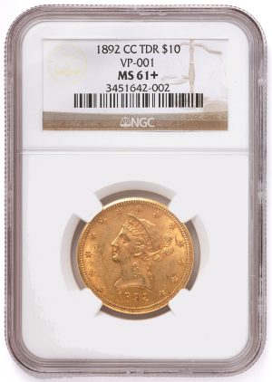 1892-CC $10 gold eagle