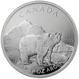 2011 Canadian Grizzly Silver Bullion Coin
