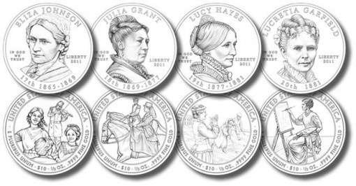 2011 First Spouse Gold Coin Designs