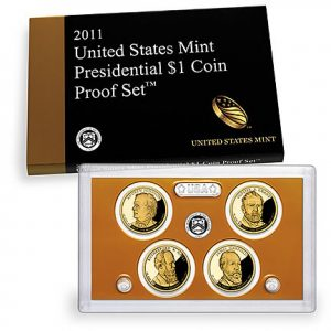2011 United States Mint Presidential $1 Coin Proof Set