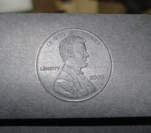 Embossed Lincoln cent
