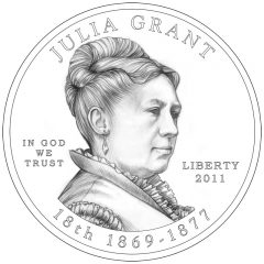 Julia Grant First Spouse Gold Coin Obverse Design