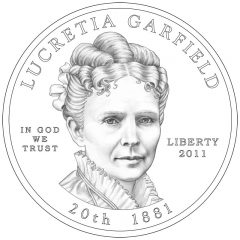 Lucretia Garfield First Spouse Gold Coin Obverse Design