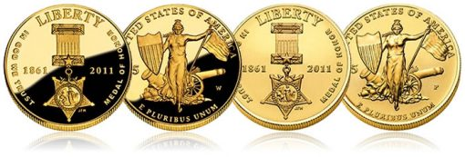 Medal of Honor $5 Gold Commemorative Coins - Proof and Uncirculated