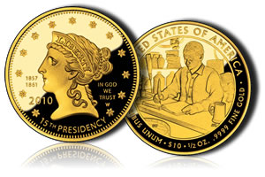 Proof Buchanan's Liberty First Spouse Gold Coin