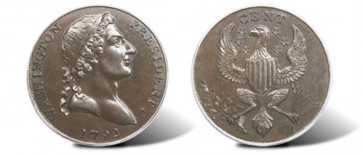 1792 1C Washington Roman Head Cent