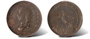 1792 Half Disme Coin