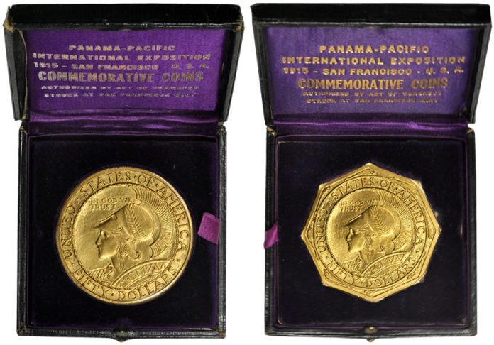 1915-S Panama-Pacific Exposition $50 Octagonal and Round