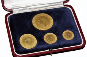 1937 King George VI Gold Four-Coin Proof Set