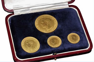 1937 King George VI Gold Four-Coin Set