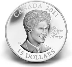 2011 $15 Prince Harry Ultra-High Relief Silver Coin