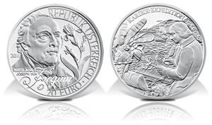 2011 20€ Nicholas von Jacquin Silver Coin