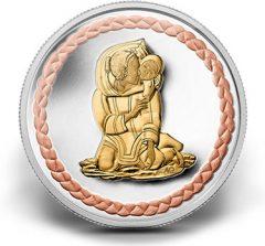 2011 $3 Family Scene Silver Coin
