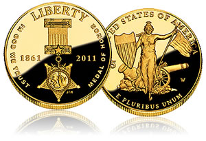 2011 $5 Gold Medal of Honor Commemorative Coin