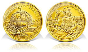Austria 2010 Crown of St. Stephen Gold Coin