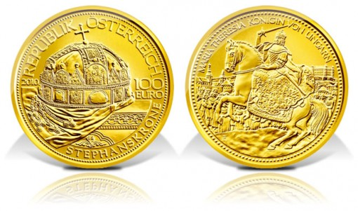 Austria 2010 Holy Crown of St. Stephen Gold Coin