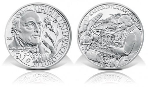 Austria 2011 20€ Nicholas von Jacquin Silver Coin