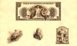 BEP Franklin Commemorative Series Inventor Intaglio Print