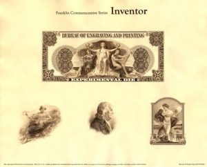 Franklin Commemorative Series Inventor Intaglio Print