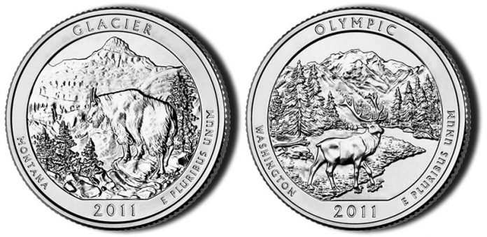 Glacier and Olympic National Park Quarters