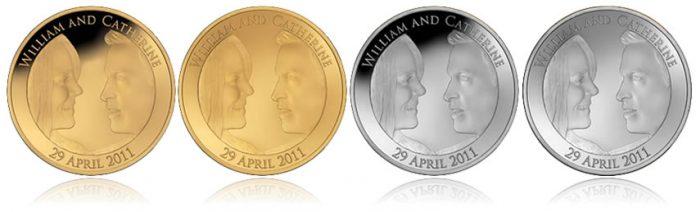 UK Royal Wedding Commemorative Coins