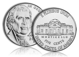 US Five-Cent Coin