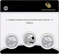 US Mint Yosemite Quarter Three-Coin Set