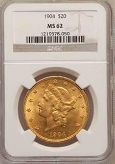 1904 $20 US Gold Coin