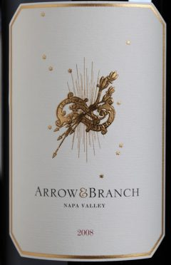 2008 Arrow&Branch red wine label