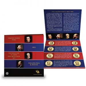 2011 Presidential $1 Coin Uncirculated Set