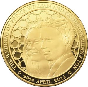 Alderney Royal Wedding £1000 Gold Kilo coin