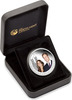 Australia Royal Wedding 1oz Silver Coin in Presentation Case