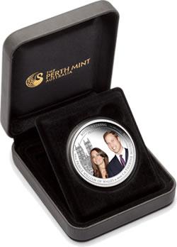 Australia Royal Wedding 1oz Silver Coin in Presentation Case