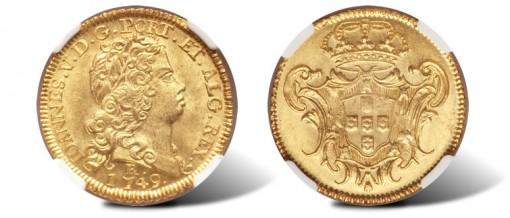 Brazil, Joao V gold 3200 Reis 1749R