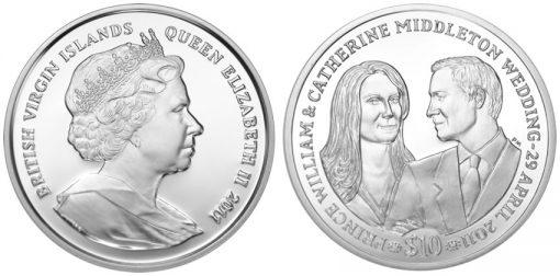 British Virgin Islands Royal Wedding Coin