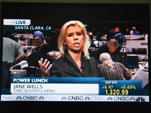 CNBC's Jane Wells in Santa Clara Expo