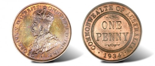 Extremely Rare 1934 Proof Penny